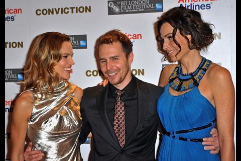 Conviction stars Hilary Swank, Sam Rockwell and Minnie Driver